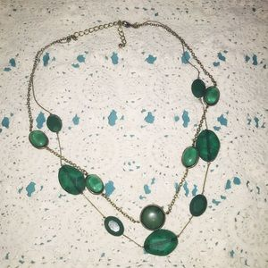 Jewelry - Handmade costume jewelry necklace /green necklace